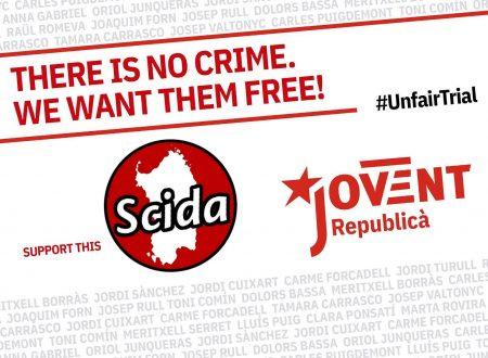 #UnfairTrial | Solidariedadi internatzionali contra sa repressioni in Catalunya