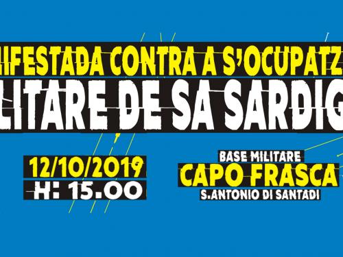 12-10-2019 Manifestada contra s'ocupatzioni militari de sa Sardinnia